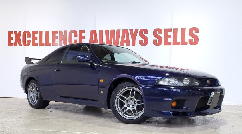 View NISSAN SKYLINE GTR R33 MINT+RUST FREE+GENUINE MILES+GOOD MOT HISTORY+RARE COLOUR